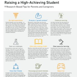 How to Raise a High-Achieving Student
