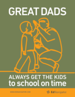 Great Dads Get Kids to School on Time