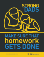 Strong Dads Make Sure that Homework Gets Done