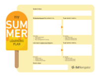 Summer Learning Plan Template